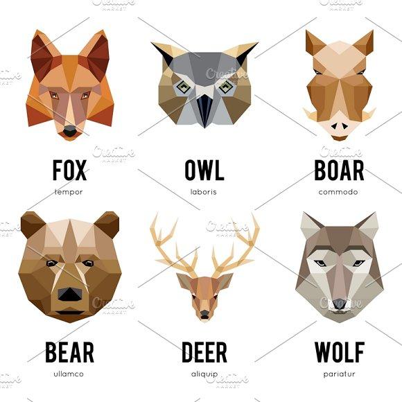 Low Polygon Animal Logos