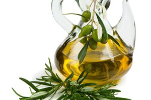 Olive oil and rosemary.