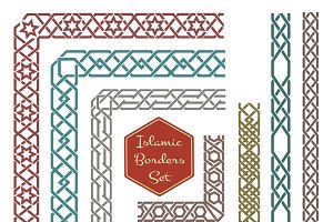 Islamic ornamental borders