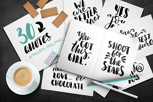 Set of Handdrawn Quotes