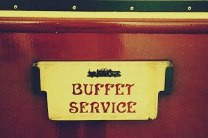Vintage train buffet service