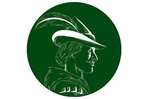Robin Hood Side Profile Circle