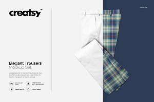 Elegant Trousers Mockup Set