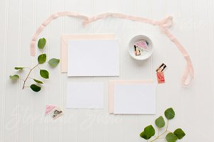 Blush Stationery Invitation Lay Flat