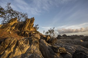 Sunset on rocks, Daintree, Australia