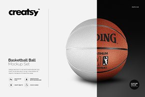 Basketball Ball Mockup Set