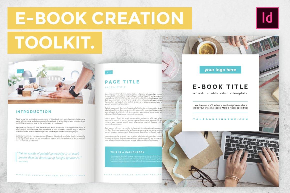 indesign e book creation toolkit templates creative market