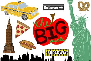 New York City Vector Clip Art