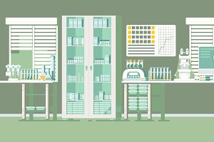 Medical Laboratory Illustration