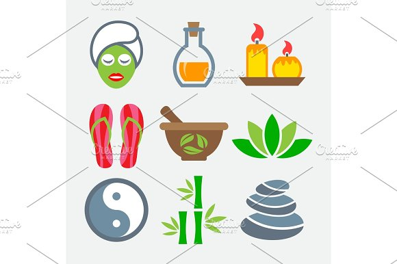 Spa Colorful Icons