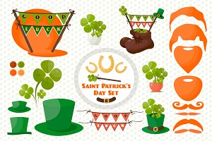 St.Patrick's Set, Cards, Patterns