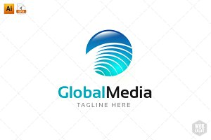 Global Media Logo Template