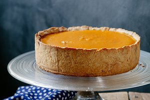 Sweet pumpkin cheesecake