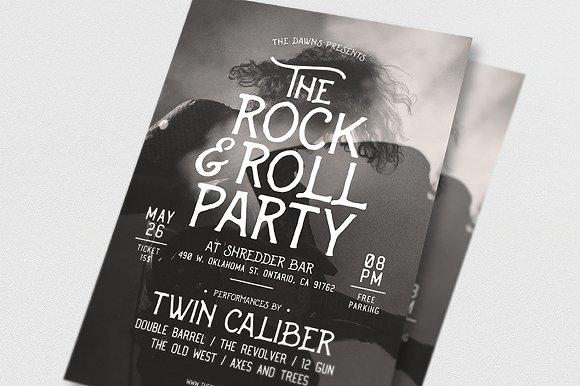 Rock Roll Music Flyer