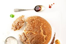 Round loaf of fresh bread