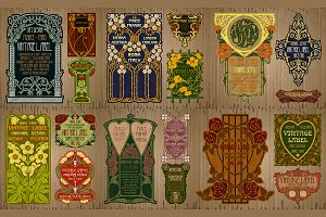 Label Art Nouveau - sets