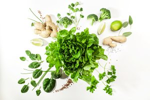 Green salad ingredients