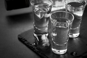 Vodka shot drink.