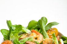 Shrimp salad with cherry tomatoes