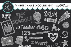 104 White Chalk School Elements/Clip