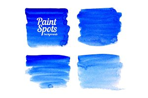 Ultramarine blue paint spots