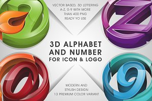 3D LETTERING for icon & logo