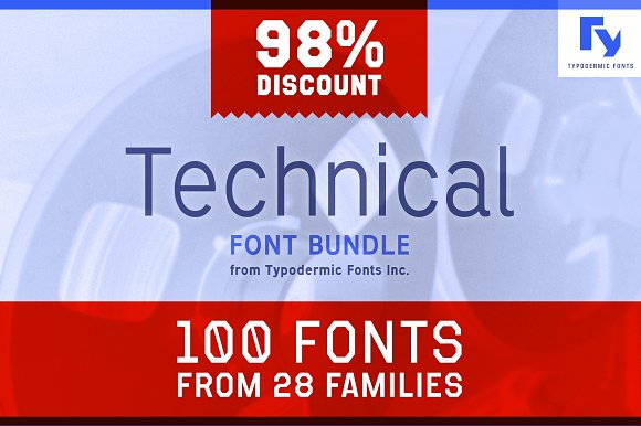 Technical Font Bundle