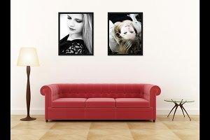 Wall art & Poster frame mockup v6