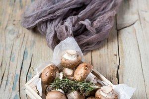 Fresh and natural mushrooms