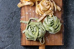 Colored fresh pasta