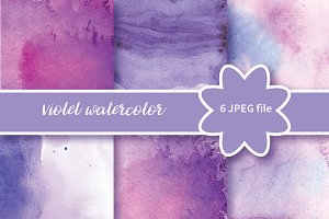 №234 Watercolor Violet background