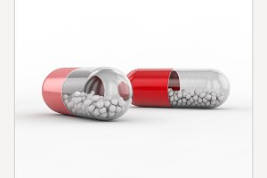 Capsule with drug