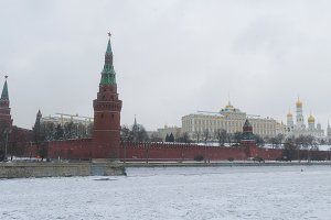 The Kremlin and the Moscow River in winter