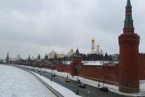 Kremlin Wall in winter