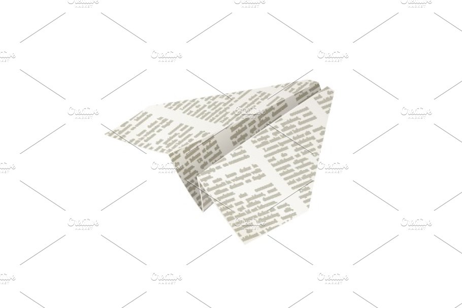 Paper origami airplane  Newspaper Handicraft