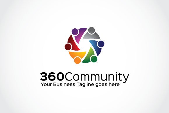 360 community logo template logo templates creative market wajeb Image collections