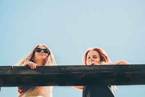 Girls friends walking together