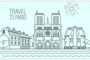 Paris Travel Concept