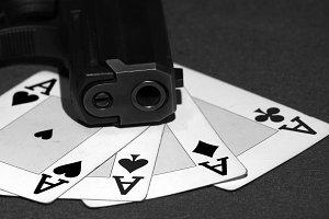 Poker of aces, mafia style