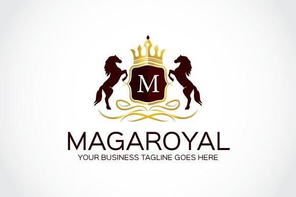 maga royal logo template logo templates creative market. Black Bedroom Furniture Sets. Home Design Ideas