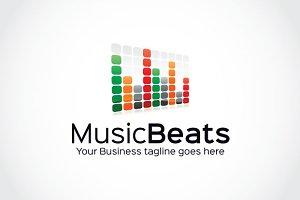 Music Beats Logo Template