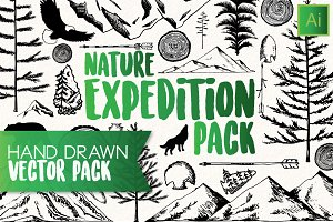Hand Drawn Nature Vector Pack
