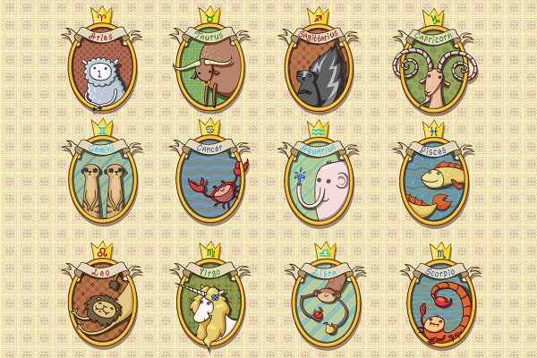 Cartoon Horoscope Animals
