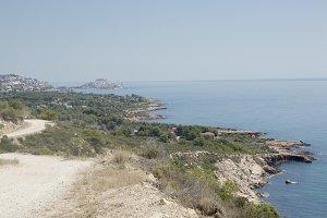 The coast of Peñíscola