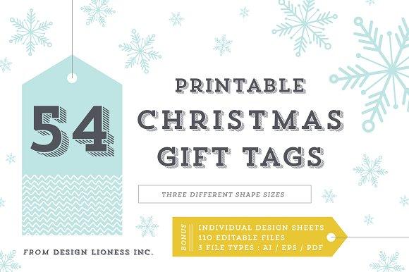 54 Printable Christmas Tags