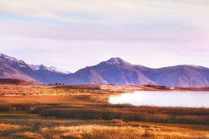 Patagonia. Autumn sunrise