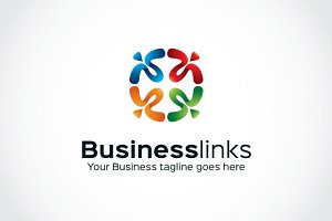 Business links Logo Template