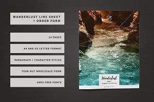 Wanderlust Line Sheet + Order Form