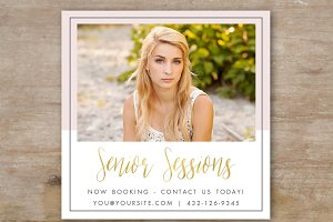 Senior Photography Ad Template