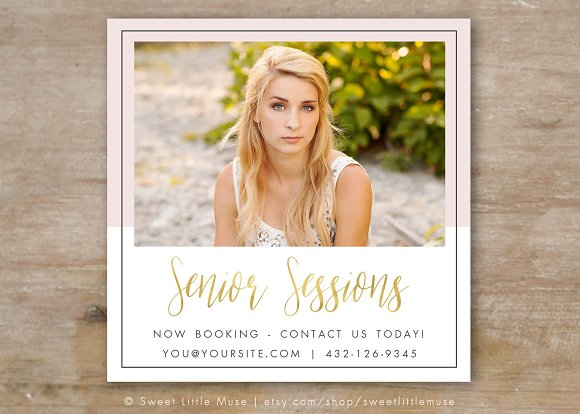 Senior Photography Ad Template Templates Creative Market - Photography ad template